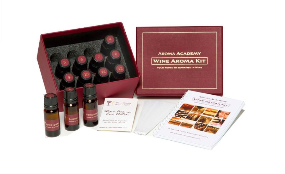 Wine aroma nose training system