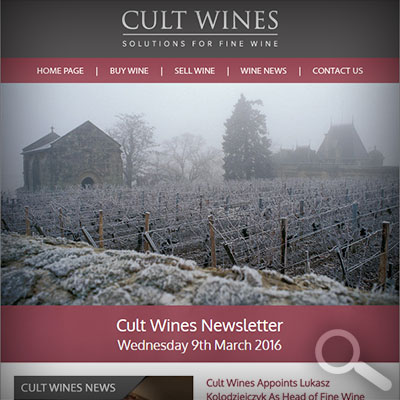 Cult Wines Newsletter 09/03/16