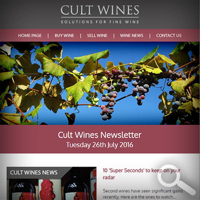 Cult Wines Newsletter 26/07/16
