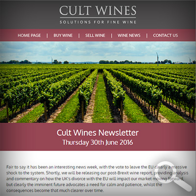 Cult Wines Newsletter 30/06/16